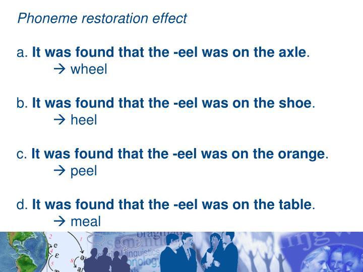 Phoneme restoration effect