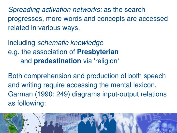Spreading activation networks: