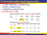 3 6 incompressible liquid approx icl