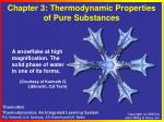chapter 3 thermodynamic properties of pure substances