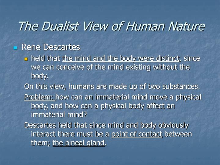 Rene Descartes Human Nature