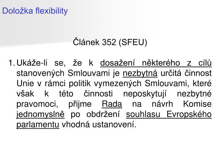Doložka flexibility