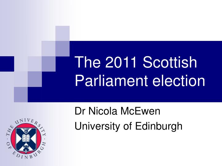 the 2011 scottish parliament election n.
