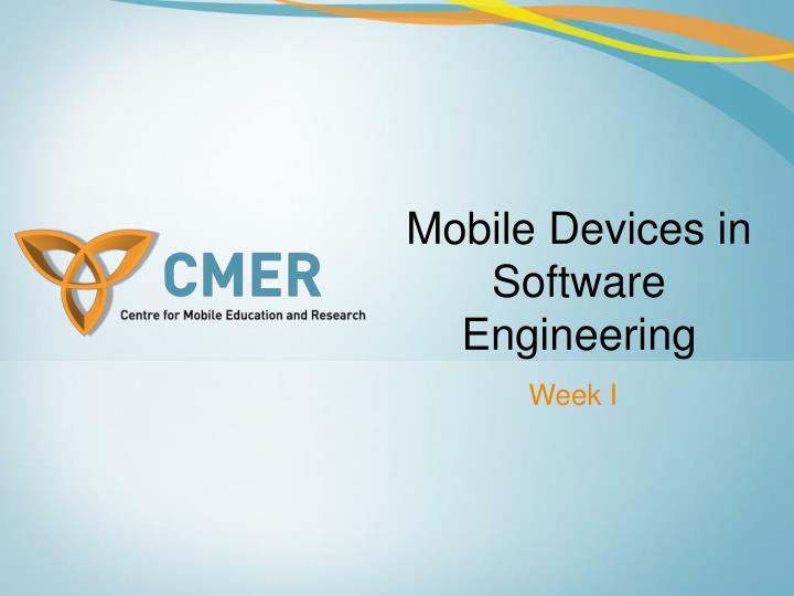 mobile devices in software engineering n.