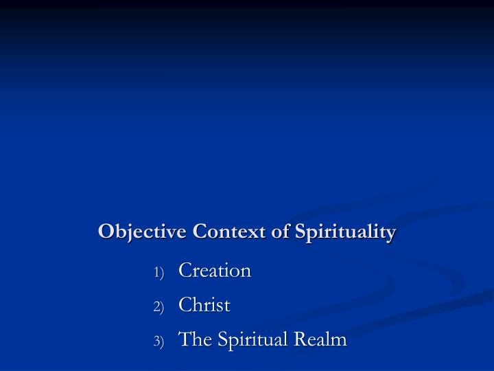 Objective context of spirituality