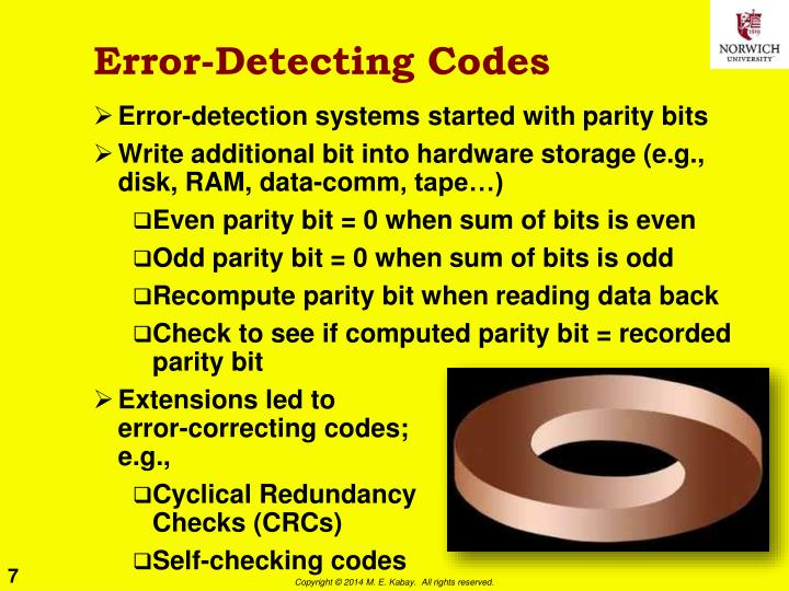 Error-Detecting Codes