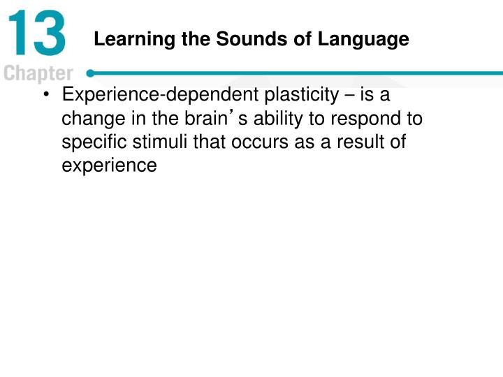 Learning the Sounds of Language