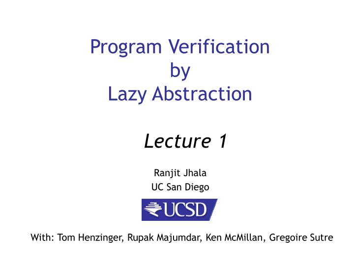 program verification by lazy abstraction n.