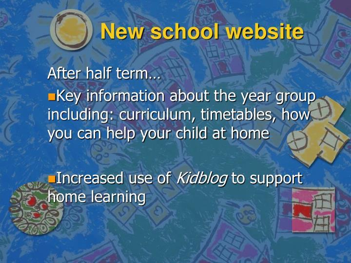 New school website