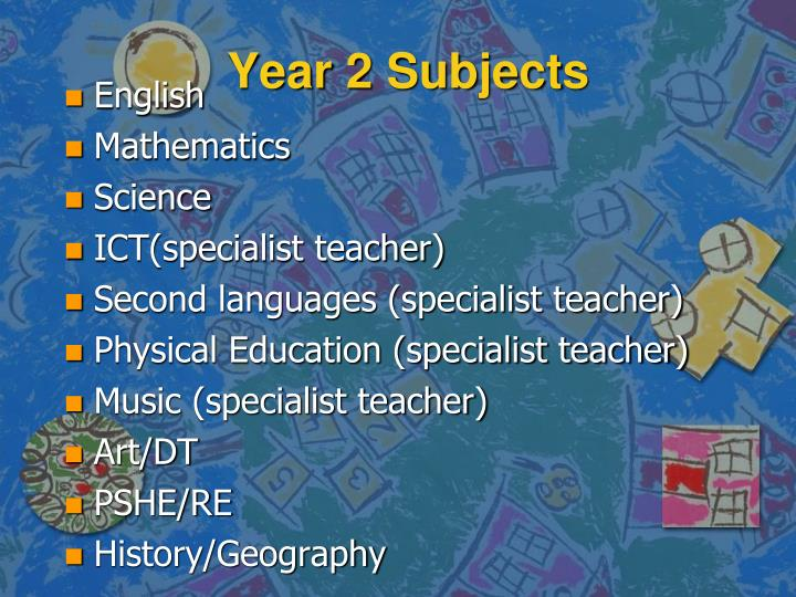 Year 2 Subjects