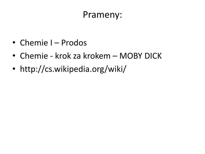 Prameny: