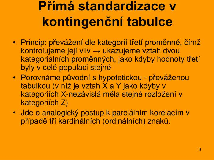 P m standardizace v kontingen n tabulce1