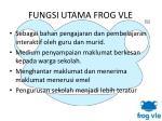 fungsi utama frog vle