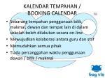 kalendar tempahan booking calendar1