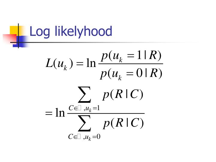 Log likelyhood