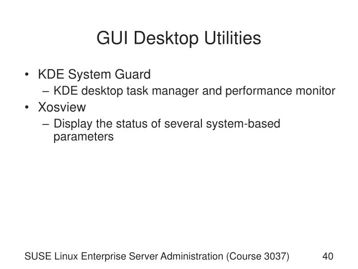 GUI Desktop Utilities