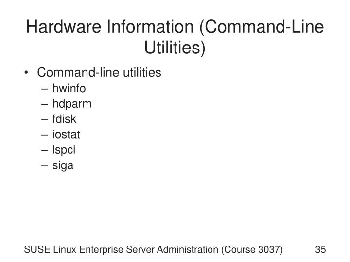 Hardware Information (Command-Line Utilities)