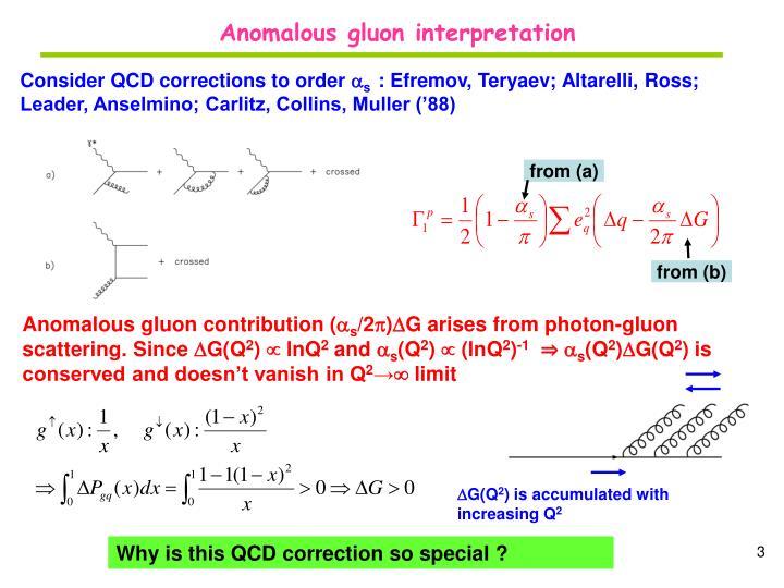 Anomalous gluon interpretation