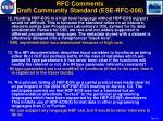 rfc comments draft community standard ese rfc 0083