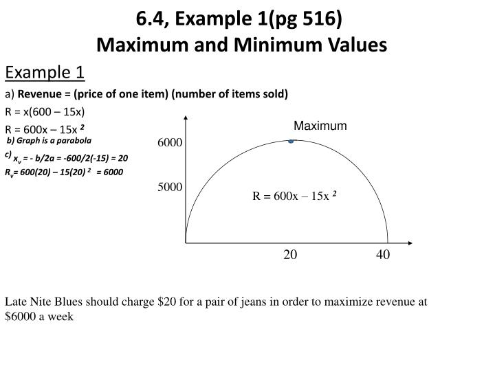 6.4, Example 1(pg 516)
