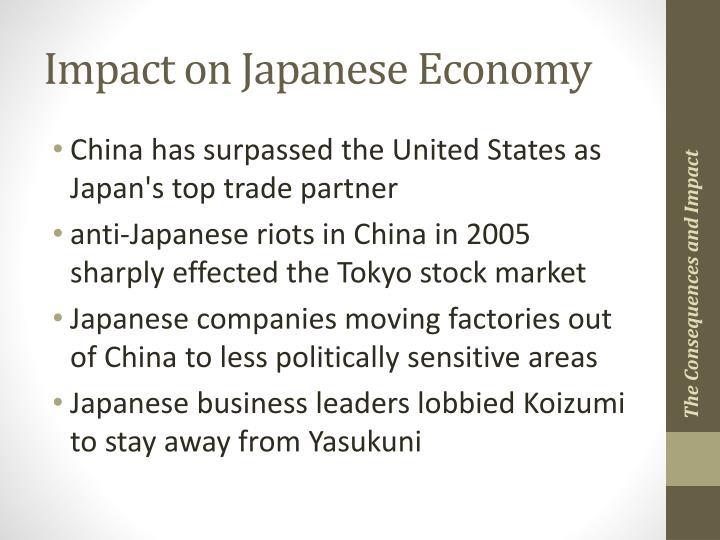 Impact on Japanese Economy