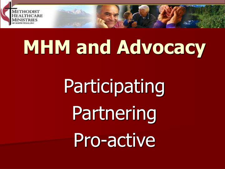 MHM and Advocacy