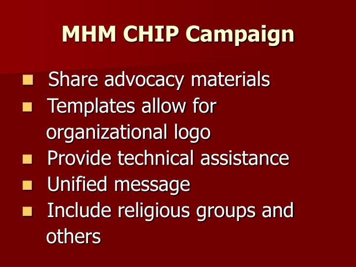 MHM CHIP Campaign