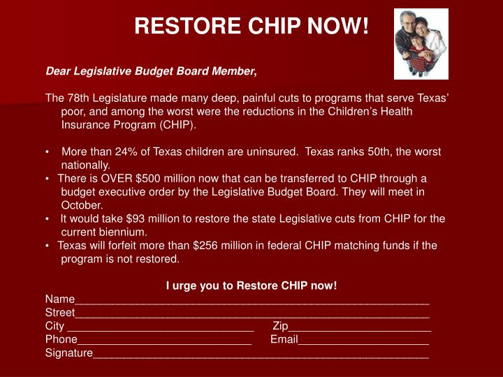 RESTORE CHIP NOW!