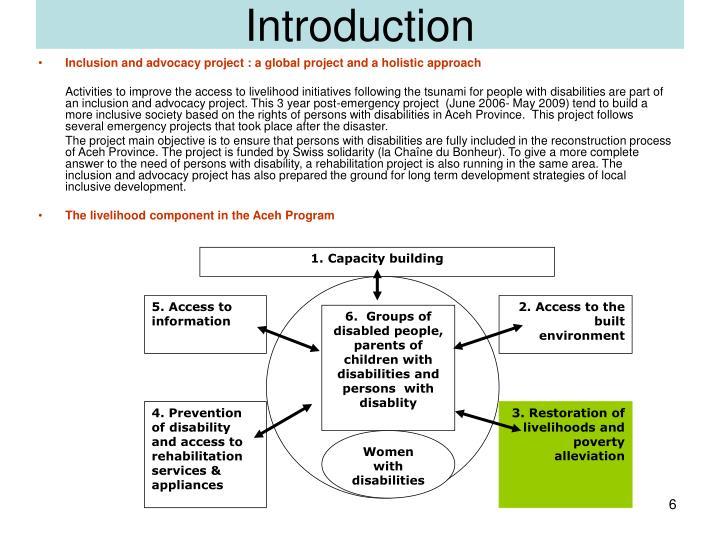 1. Capacity building
