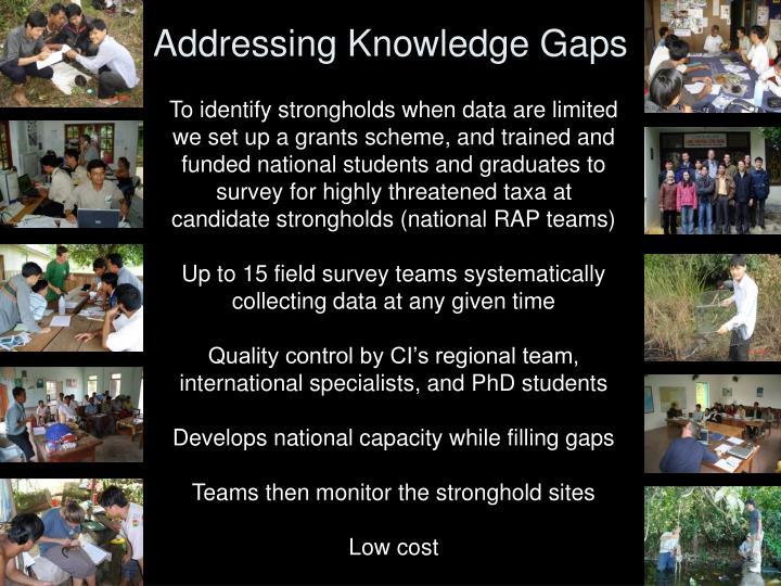 Addressing Knowledge Gaps
