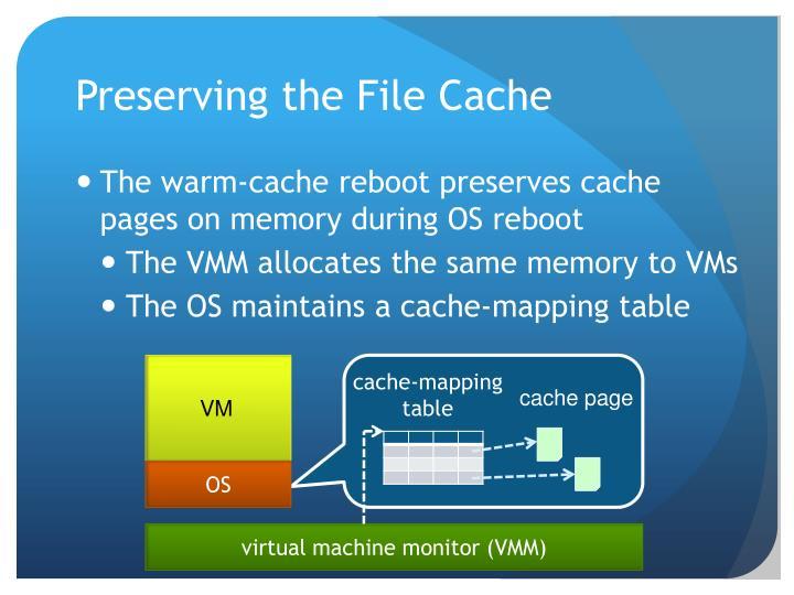 Preserving the File Cache