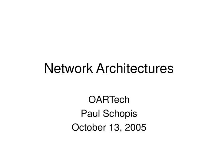 network architectures n.