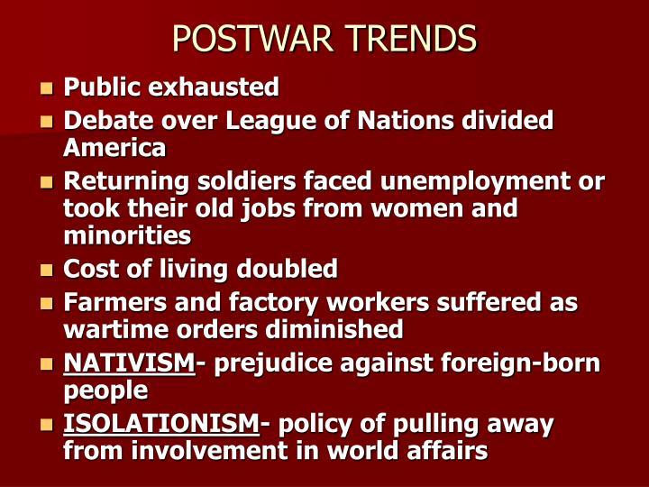 Postwar trends