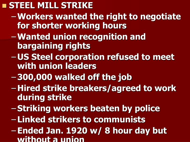 STEEL MILL STRIKE