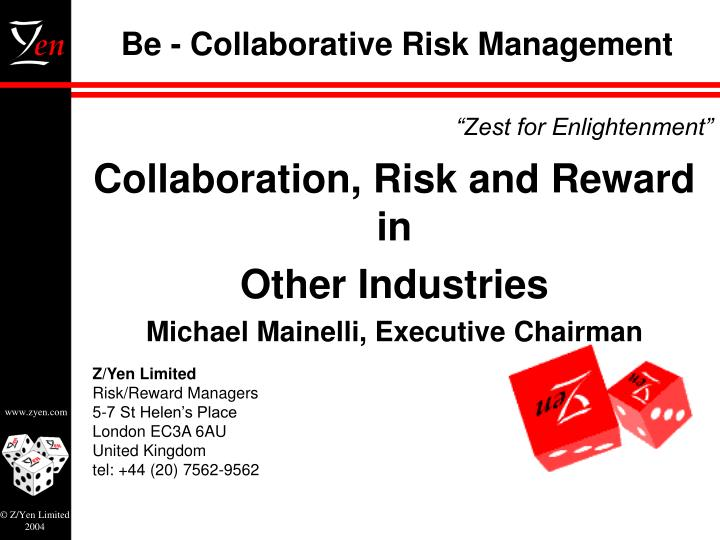 be collaborative risk management n.