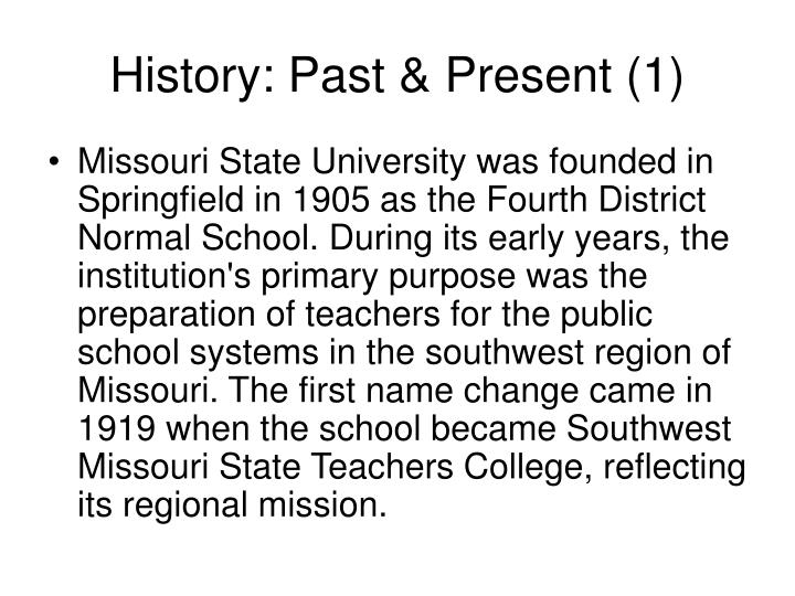 History past present 1