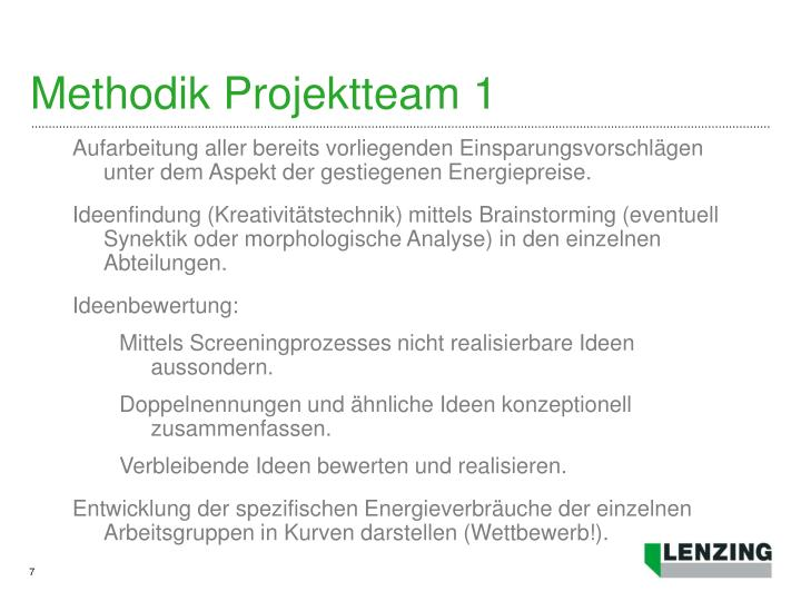 Methodik Projektteam 1