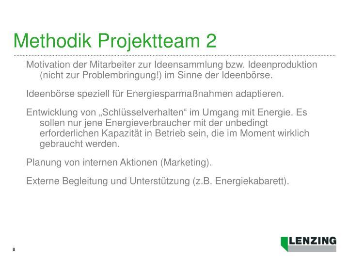 Methodik Projektteam 2