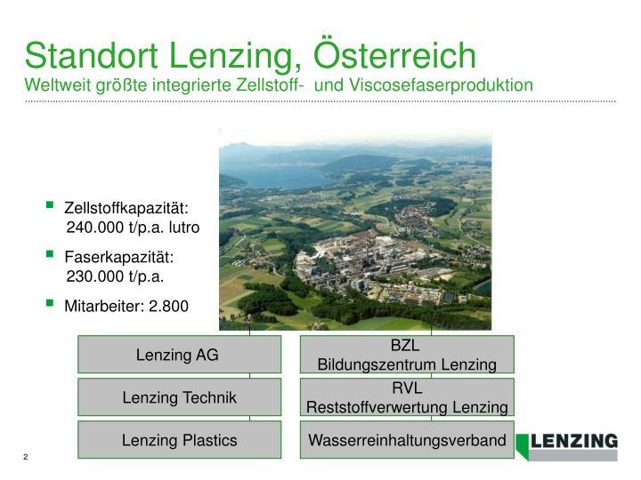 Standort lenzing sterreich weltweit gr te integrierte zellstoff und viscosefaserproduktion