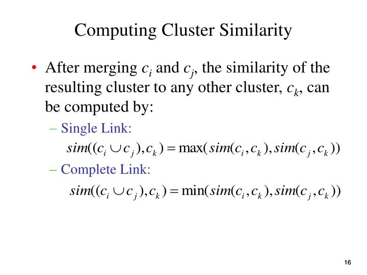 Computing Cluster Similarity