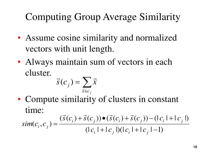 Computing Group Average Similarity