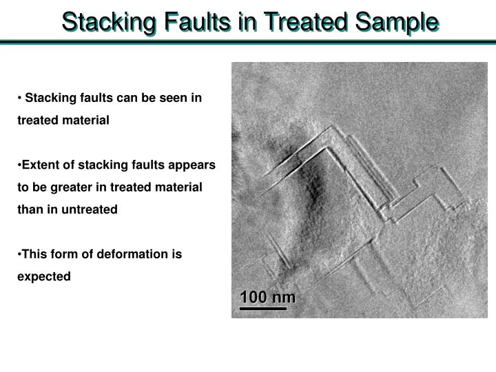 Stacking Faults in Treated Sample