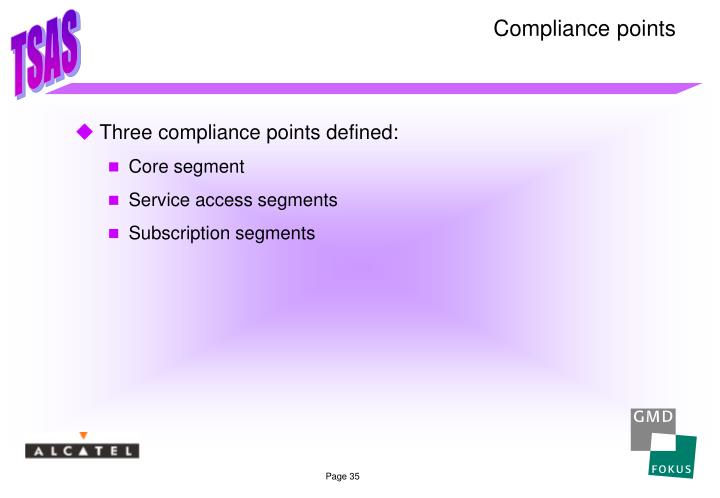 Compliance points