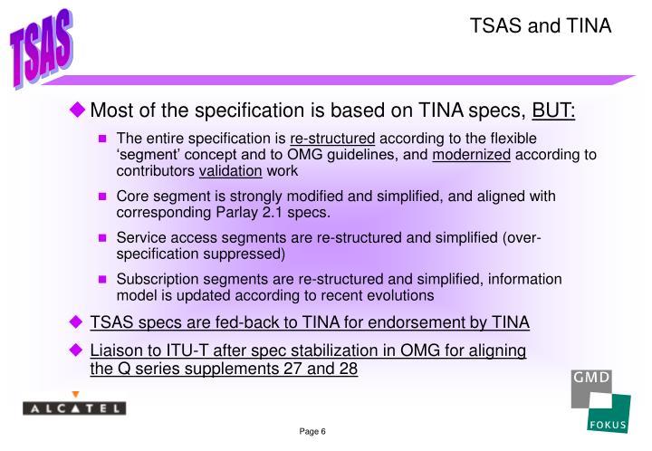 TSAS and TINA