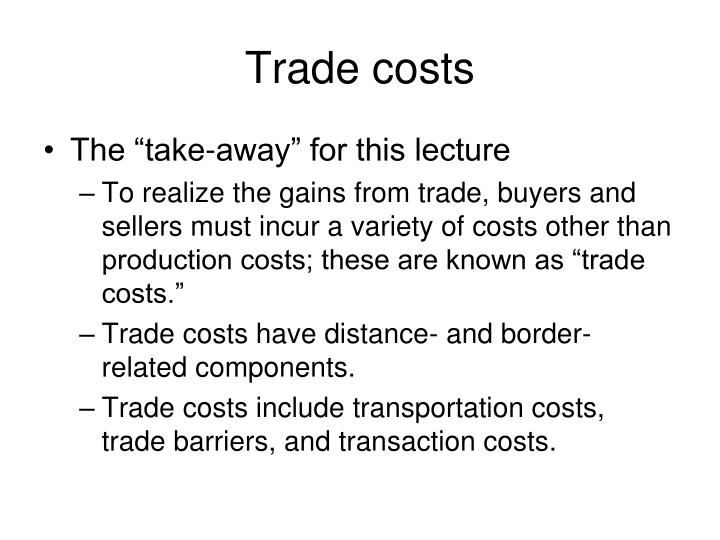 trade costs n.