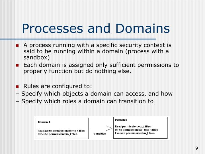 Processes and Domains