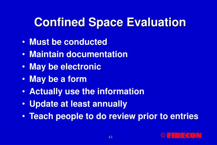 Confined Space Evaluation