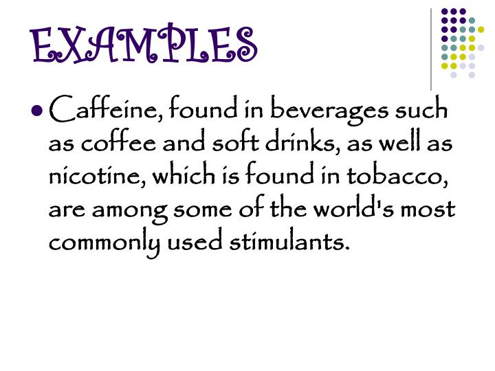examples of stimulants
