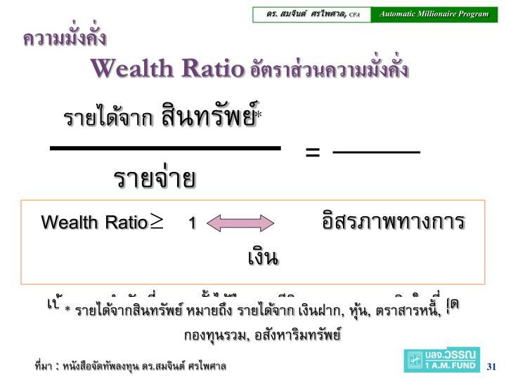 Wealth Ratio