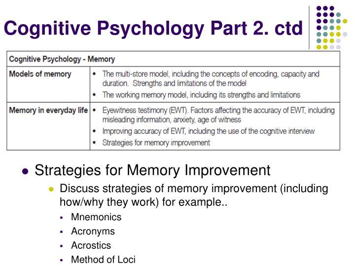 Cognitive Psychology Part 2.